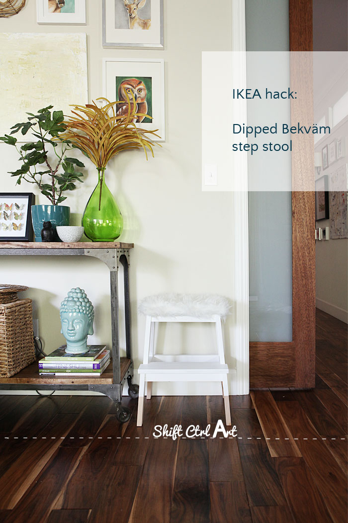 IKEA hack tejn bekväm step stool dipped upholstered 1