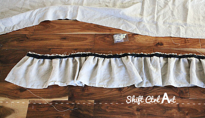 How to make ruffled table skirt 1
