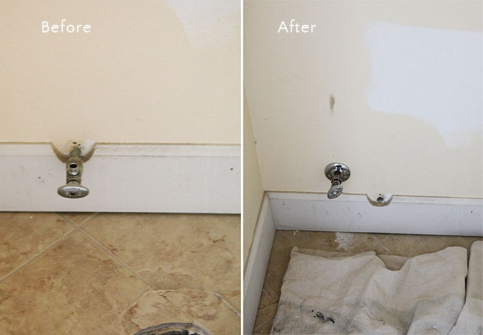 Master bath plumbing electrical construction 1