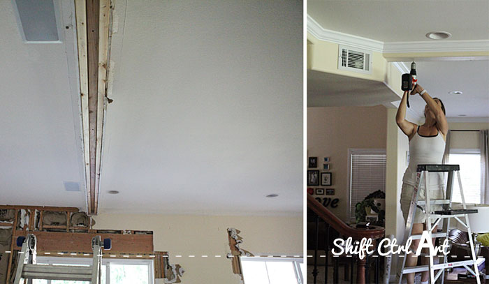 Staircase before and demo 1