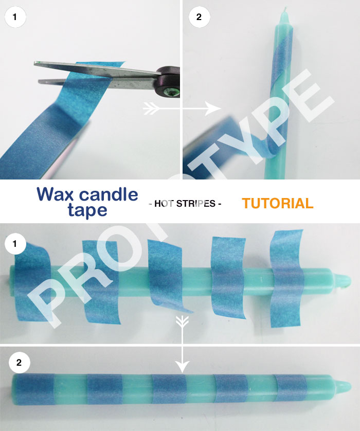 Wax candle tape