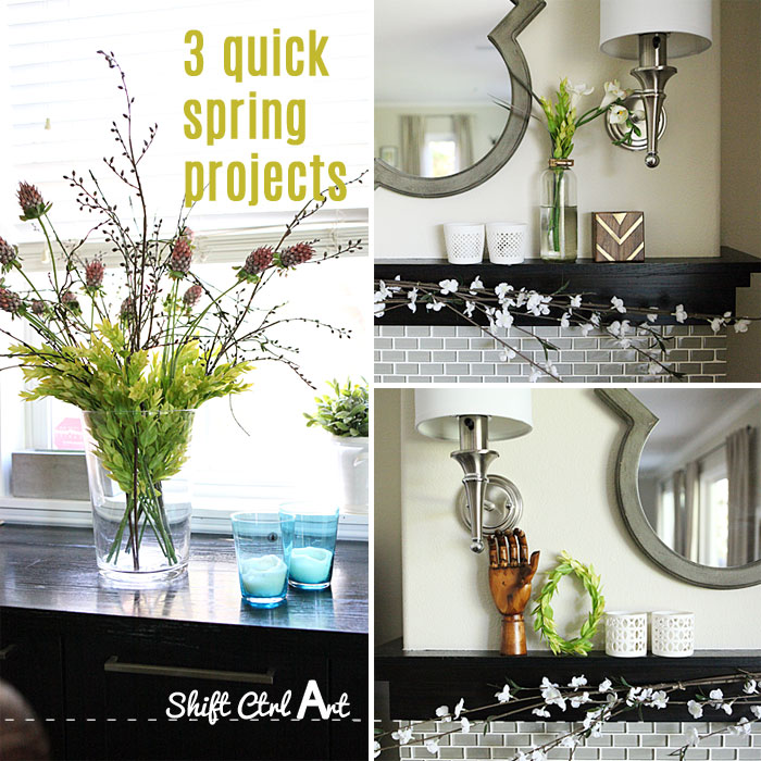 Easter mantel and 3 quick projects 1