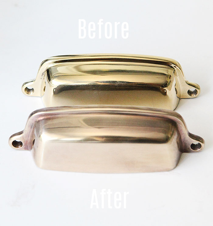 How to age brass hardware quickly 1