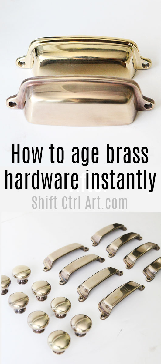 How to age brass hardware quickly shift ctrl art com