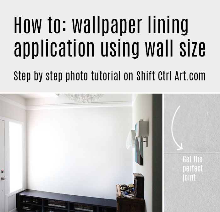 How to wallpaper lining application with sizing