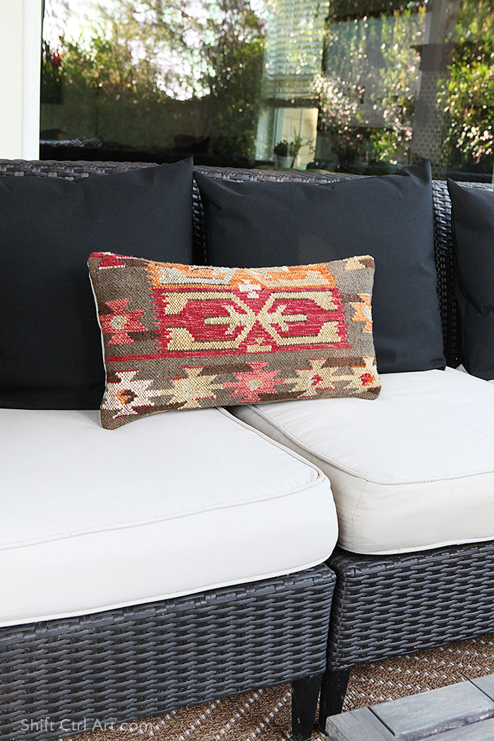 DIY 3 kilim pillows for price of one