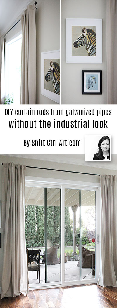 Galvanized pipe curtain rods without the industrial feel #curtainrod #galvanized #pipe #curtains