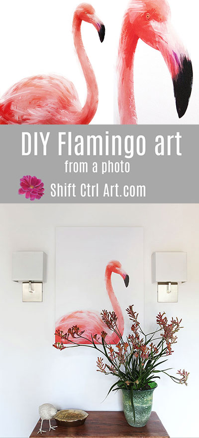 #DIY #Flamingo #art from #photo