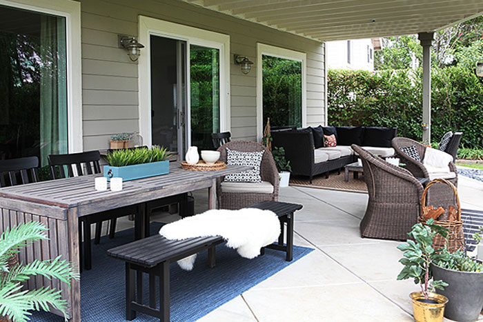 The patio revisited - more neutral this time