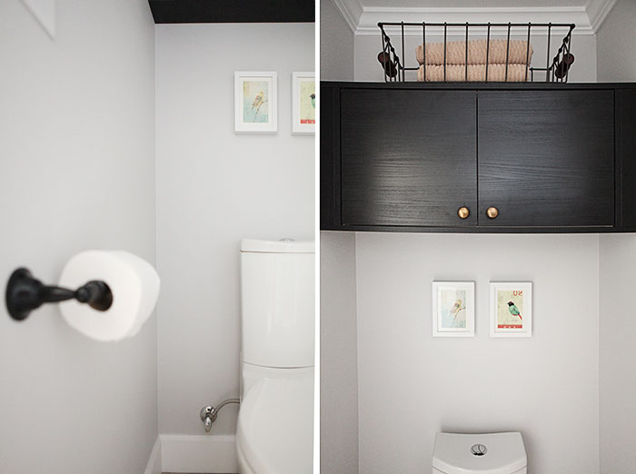 Inexpensive oversized art - and my toilet room reveal