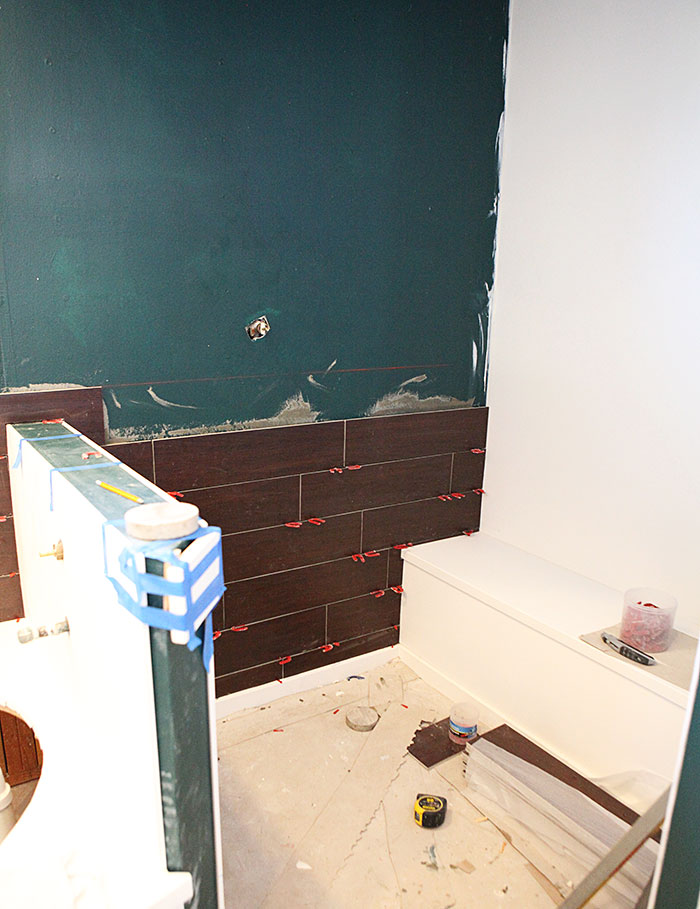 Master bath - tile installation