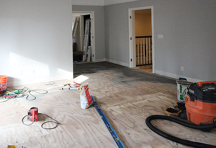 Master bedroom new #hardwood floor and Liberache called #fallinloveroom