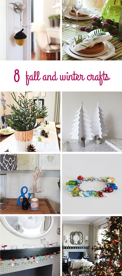 8 fall and winter crafts