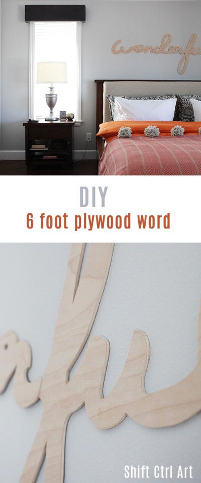 #DIY large scale #plywood word #art