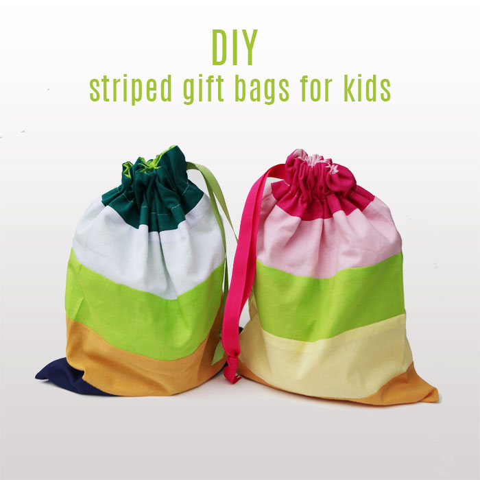Striped gift bags for kids DIY 1