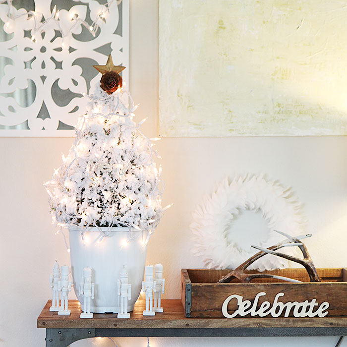 Dare to deck the halls DIY Christmas tree with string lights