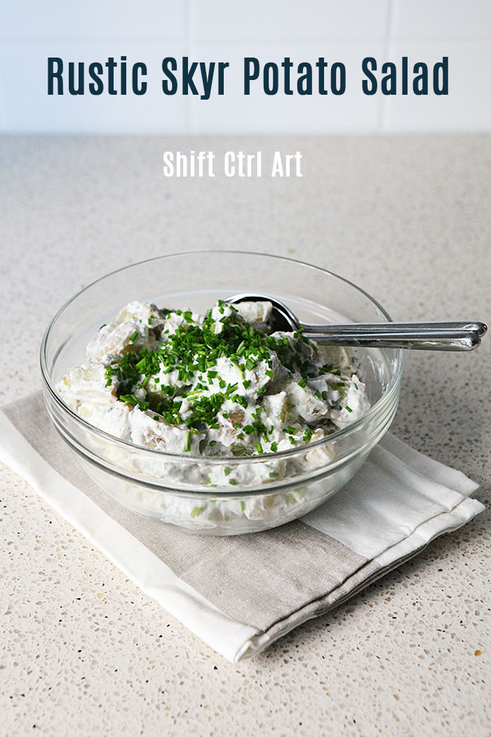Rustic skyr potato salad
