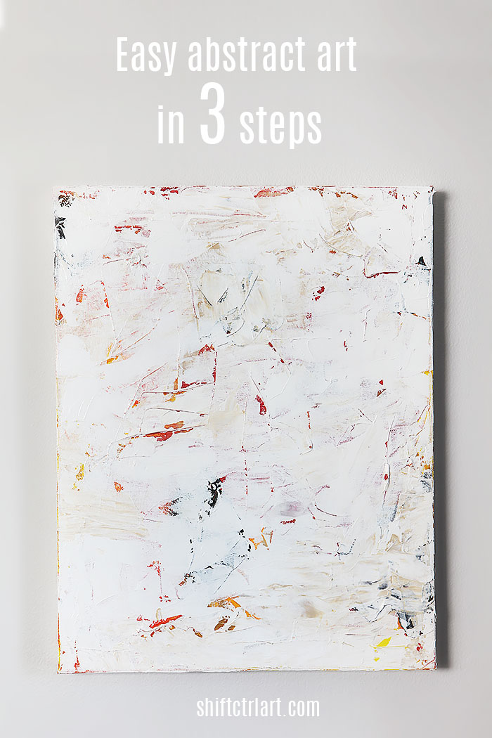 easy abstract art in 3 steps