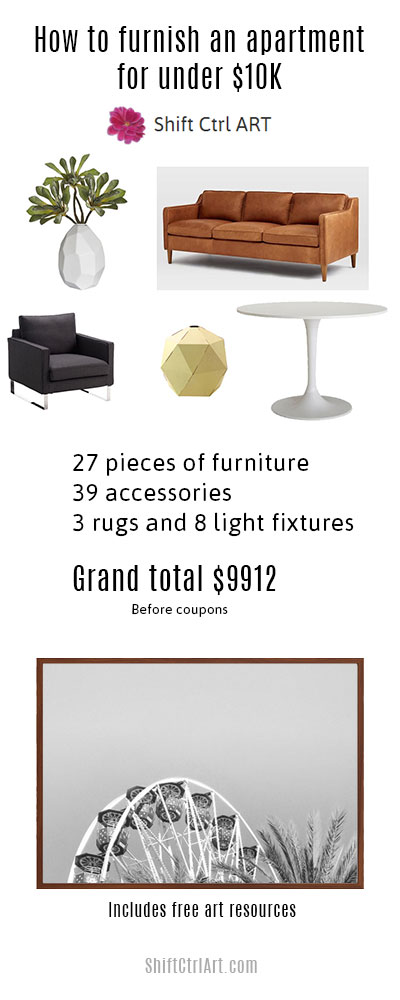 How To Furnish House With Modern Furniture: How To Furnish A 3 Bedroom Apartment For Under $10K