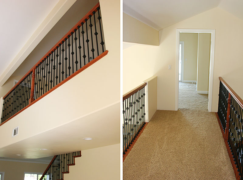 Upstairs hallway reveal - remodel