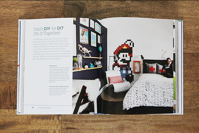 Shift Ctrl Art published in Lovable Livable Home by Young House Love - a New York Times Bestseller