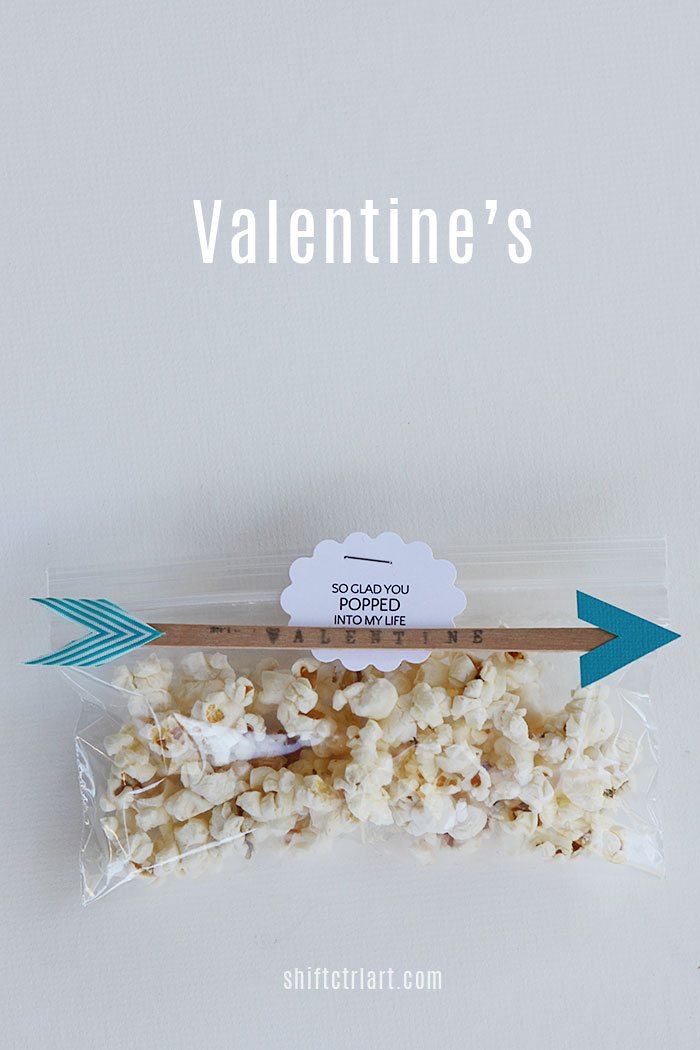 Valentine s arrow and popcorn craft 1