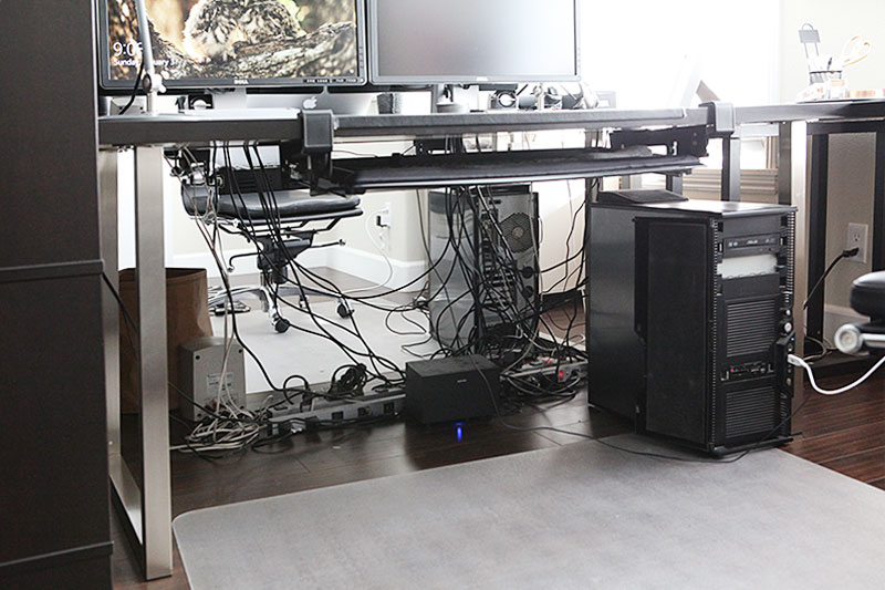 How to organize a tangled mess of cables under your desk - Organize computer desk ...
