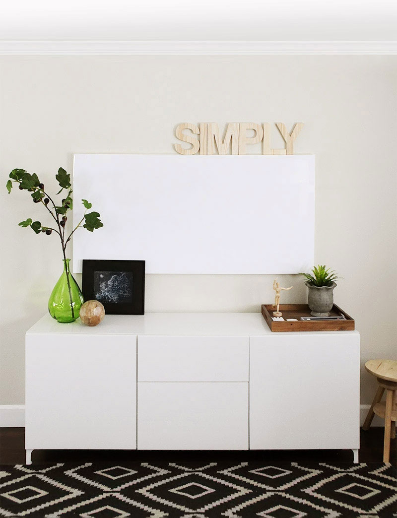 Home office make-over - the whiteboard wall