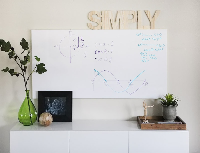 Home Office Make Over The Whiteboard Wall Reveal