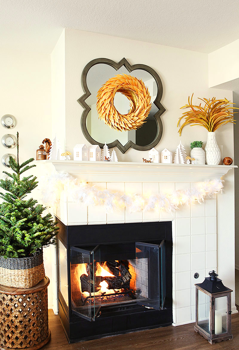 Our living room this Christmas - with 5 Christmas decor DIYs (Incl svgs and pdfs)