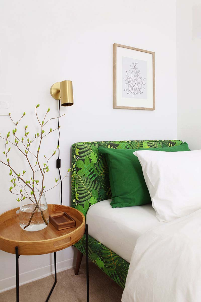 Green guest room make over 11 DIYs