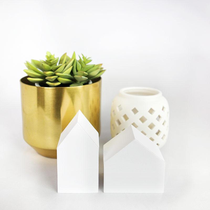 Minimalist paper houses cricut files