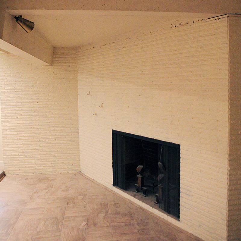 How to grout a brick fireplace German schmear or Danish schmear