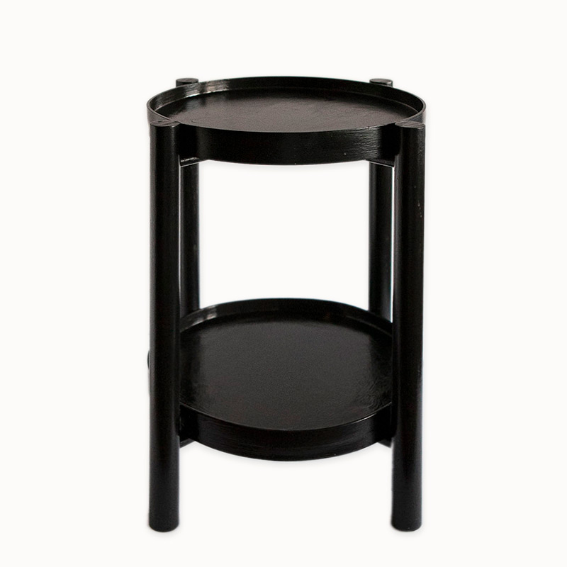 Black bentwood side table