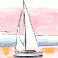 Water color sailboat