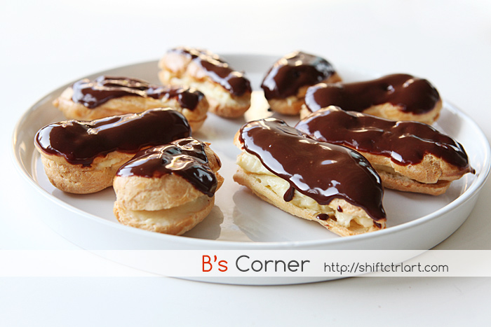 Chocolate eclairs Cooking Fridays homeschooling
