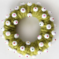 Wool wreath
