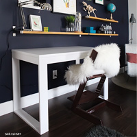 IKEA hack: how to build a white desk with a Kreg Jig