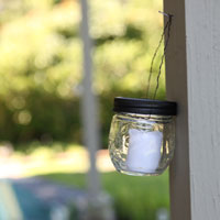 Thrift find: jars turned to votives