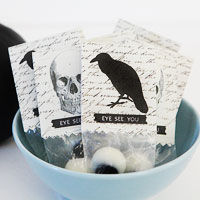 Put the trick back in Trick or Treat - ghoulish eyes party favor