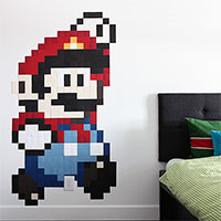 Pixel wall art - Mario gets SUPER sized
