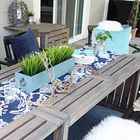 Painting the outdoor furniture - how I got that barnwood color