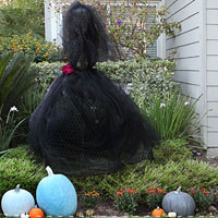 The black widow - Muha ha ha - chicken wire and tulle for Halloween