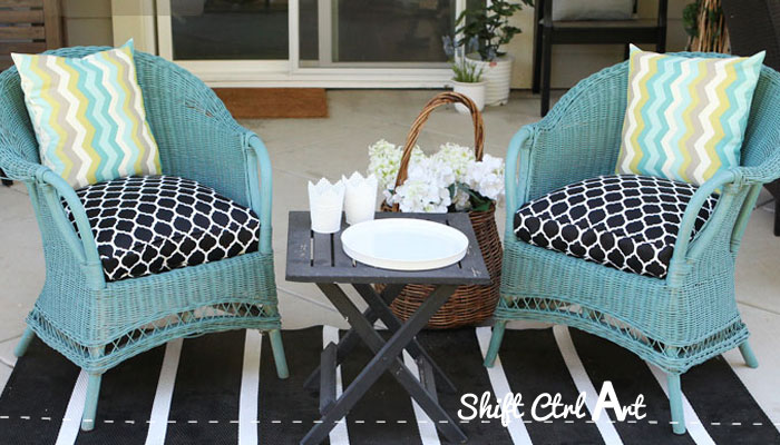 How to: sew a half-round seat cushion - for my outdoor wicker chairs