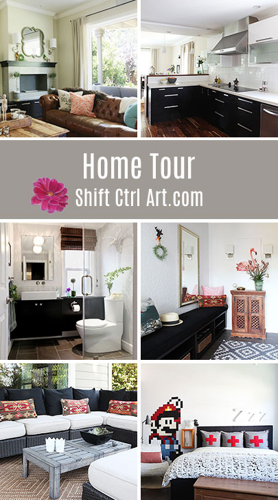 Shift Ctrl Art Home tour - pin now - complete remodel