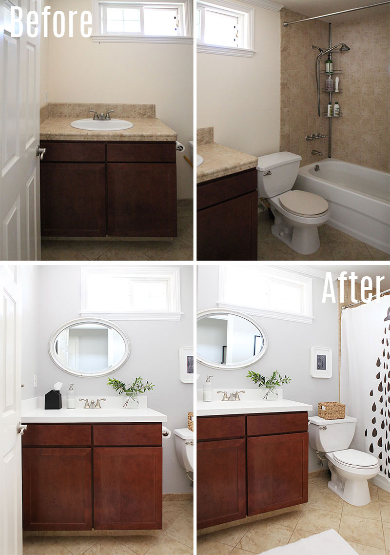 Small bathroom make over before after