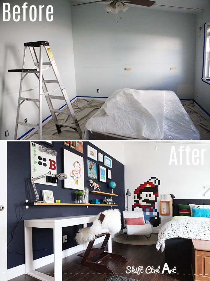 b room before and after