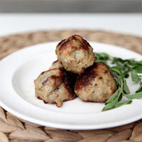 No horsing around: Fresh herb and juniper meatballs