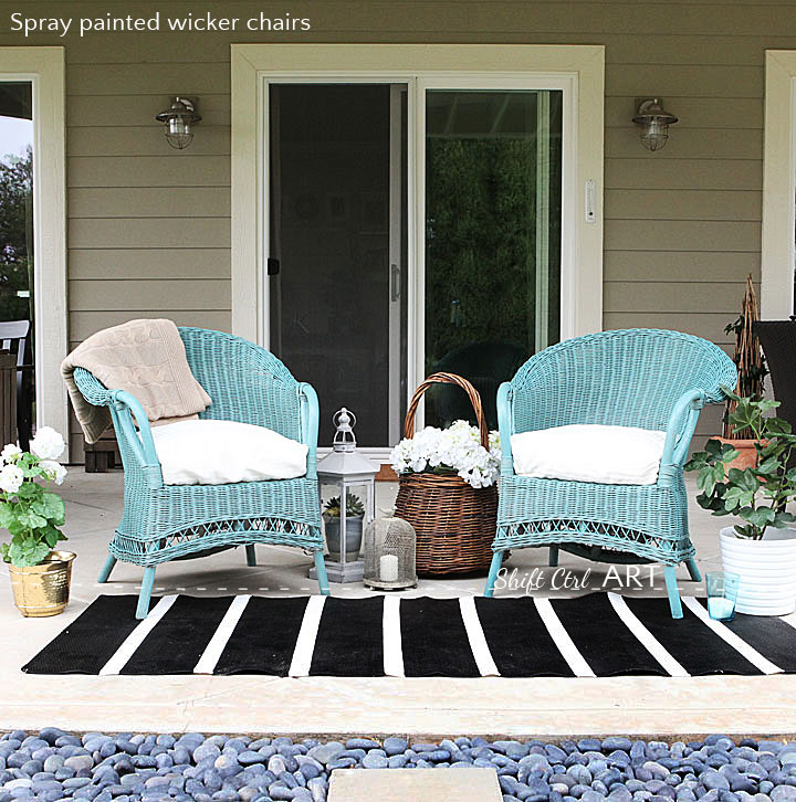 We caved and got a spray gun again so much fun - Wicker furniture paint colors ...