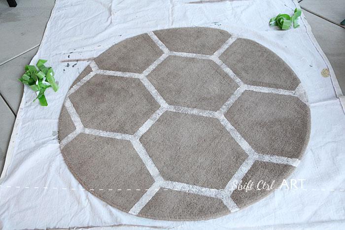 Ikea Ringum Rug Receives Fabulous Frogtape Pattern
